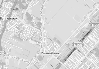 Kaartweergave van Internetdiensten in Zwaanshoek
